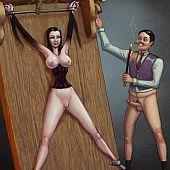 Kick-ass cartoons pics with female domination.