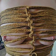 BDSM tied.