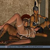 Thraldom and strap-on dildos are favourite toys of lesbo babes.