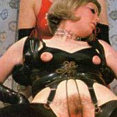 Ladies silky underware castigation.