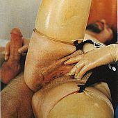 Perverted vintage lady latex.