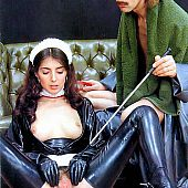 Teenager maid receives humiliated.